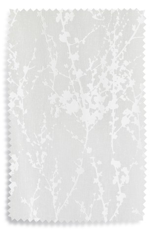 White Blossom Burn Out Slot Top Single Voile Panel