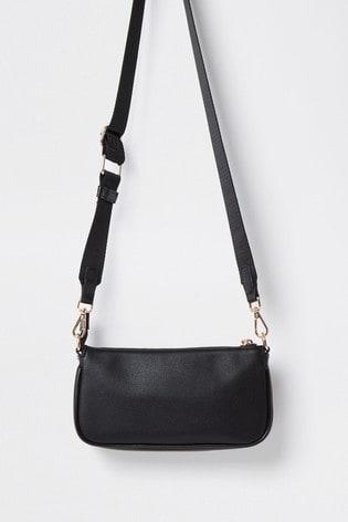 River Island Black Underarm Bag