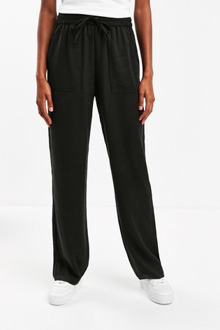 Whistles Black Washed TENCEL™ Trousers
