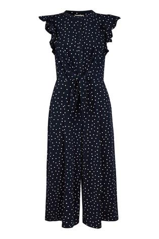 Monsoon Blue Spot Print Jumpsuit
