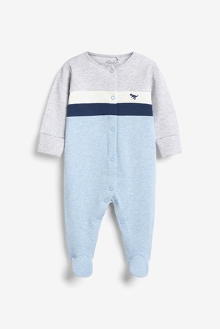 Blue Colourblock Smart Sleepsuit (0-2yrs)