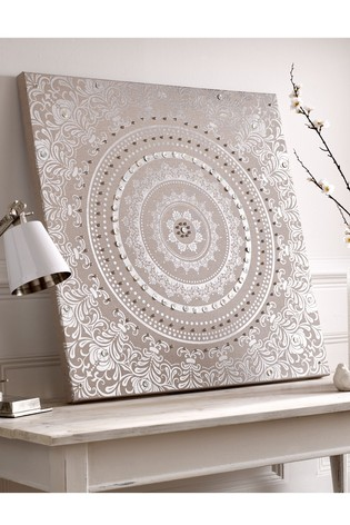 Embellished Cocoon Fabric Wall Art by Art For The Home