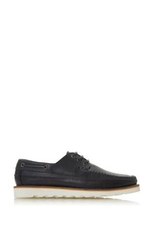 Bertie Brimstown Navy Suede 3 Eye Desert Shoes