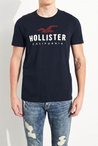 Hollister Navy Short Sleeve T-Shirt