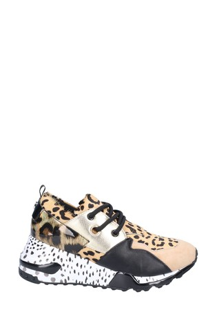 Steve Madden Cliff Animal Print Trainers
