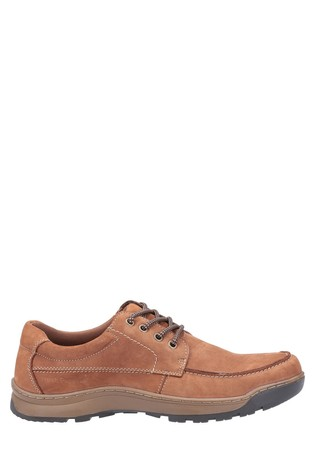 Hush Puppies Tan Tucker Lace-Up Shoes