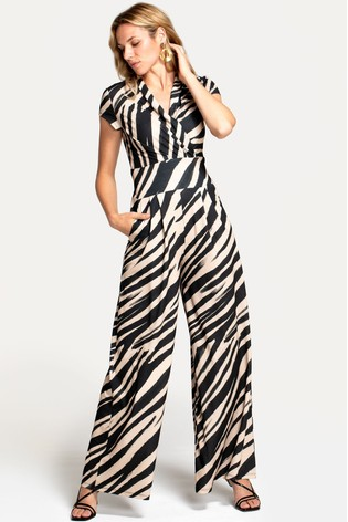 HotSquash Animal Jersey Wide Leg Jumpsuit