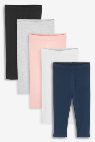 Basic 5 Pack Leggings (3mths-7yrs)