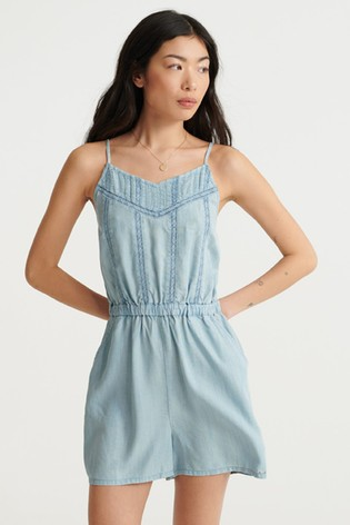 Superdry Isabel Lace Cami Playsuit