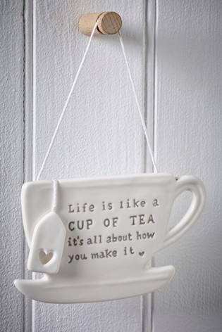 Ceramic Teacup Hanging Decoration