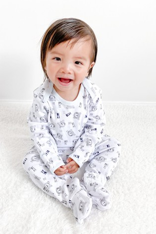 The Essential One Unisex Baby Sleepsuit With Bear Print