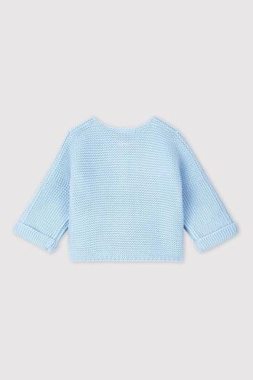 Petit Bateau Blue Knitted Cardigan