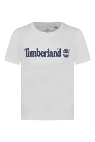 Timberland White Logo T-shirt