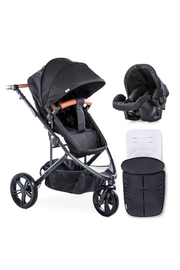 Hauck Pacific 3 Shop N Drive Travel System Caviar