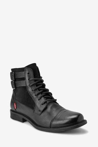 Levi's® Black Lace-Up Boots