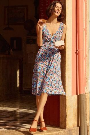 Boden White Effie Jersey Dress