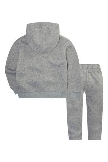 Nike Infant Grey/Green Zip Through Hoody And Jogger Set
