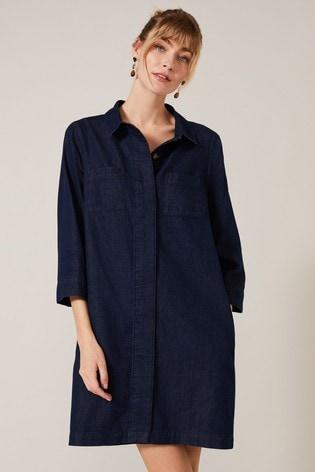 Phase Eight Blue Katie Denim Dress