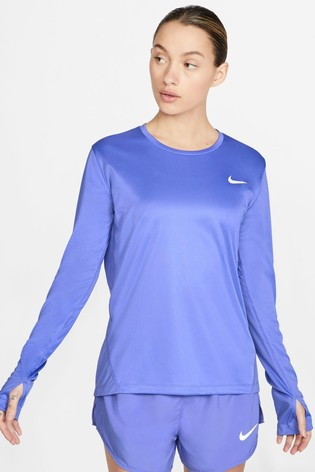 Nike Miler Purple Long Sleeved Run Top