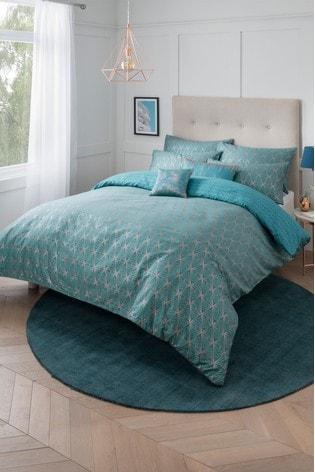 Sam Faiers Caspia Deco Duvet Cover and Pillowcase Set