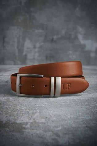 Personalised Tan Leather Belt