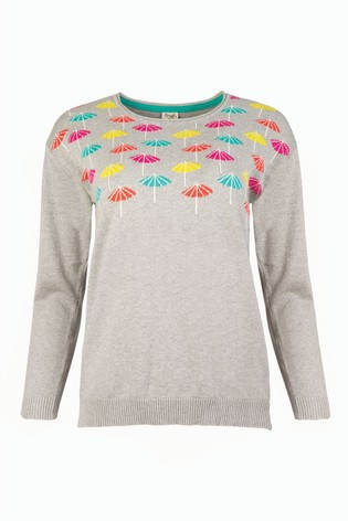 Frugi GOTS Organic Breastfeeding Jumper With Parasol Design