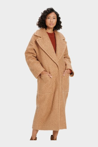 UGG Camel Hattie Long Oversized Teddy Coat