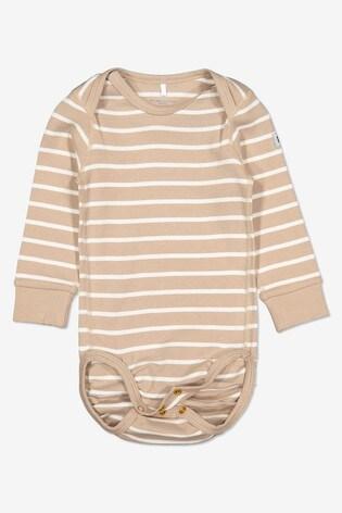 Polarn O. Pyret Natural Organic Cotton Stripe Bodysuit