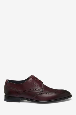 Ted Baker Dark Red Brogues