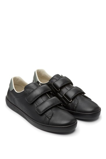 Kids Leather New Ace Velcro Trainers