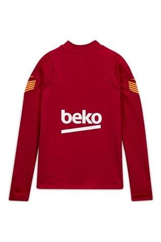 Nike Burdundy FC Barcelona Strike Drill Top