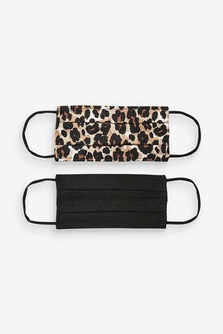 Animal Print Face Covering Two Pack