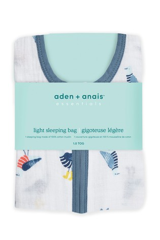 aden + anais Essentials Seashore Cotton Muslin 1.0 Tog Light Sleeping Bag