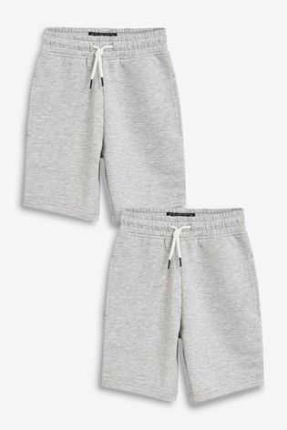Grey 2 Pack Shorts (3-16yrs)