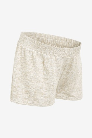 Oatmeal Maternity Cosy Shorts