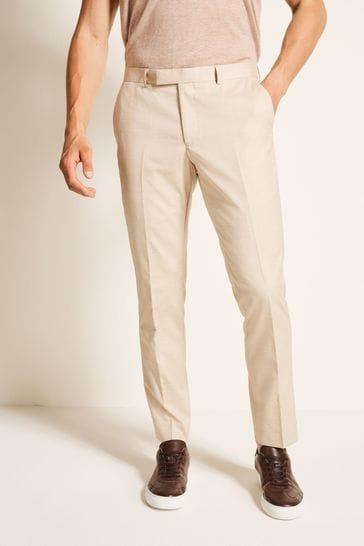 Moss London Slim Fit Latte Trousers