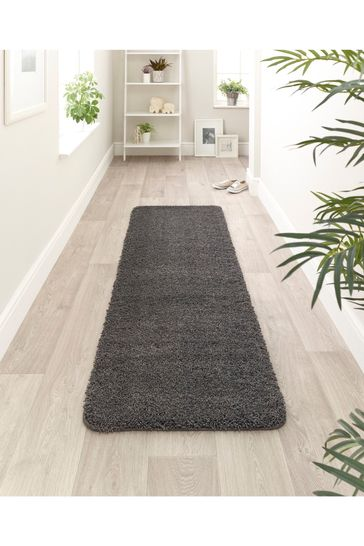 My Rug Charcoal Soft Stain Resistant And Washable Rug