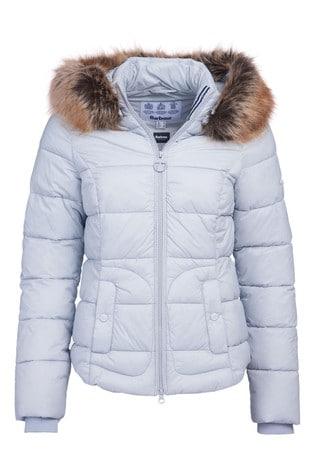 Barbour® Coastal Padded Fur Trim Dover Jacket