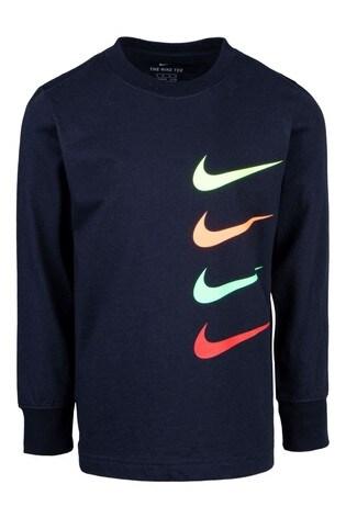 Nike Little Kids Long Sleeve Printed T-Shirt
