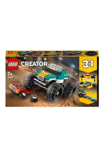 LEGO 31101 Creator 3-In-1 Monster Truck Demolition Car Toy