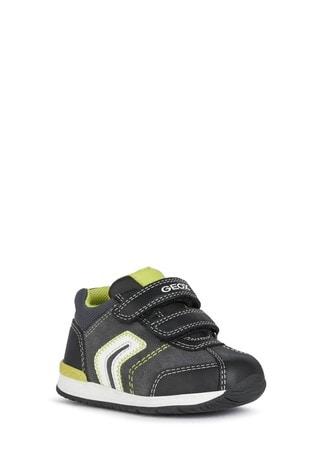 Geox Baby Boy/Unisex Rishon Dark Grey/Lime Shoes