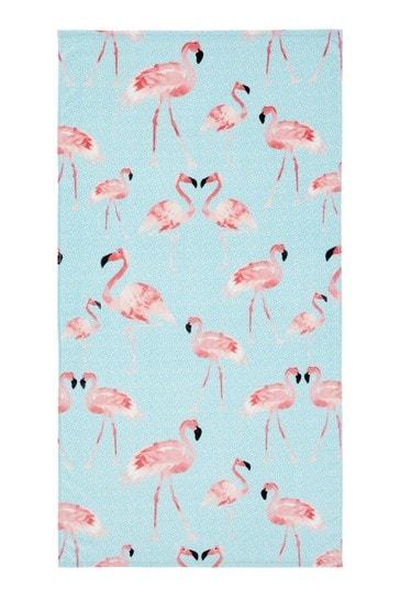 Flamingo Beach Towel by Catherine Lansfield