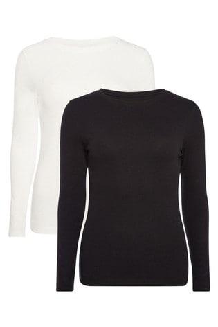F&F Two Pack Black White T-Shirt