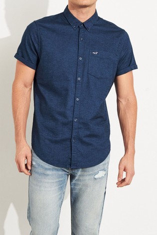 Hollister Navy Slim Shirt