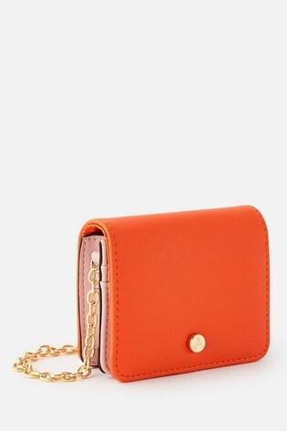 Accessorize Orange Cali Colourblock Chain Cardholder