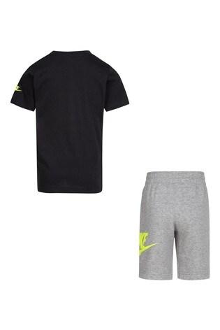 Nike Little Kids Grey/Black T-Shirt And Shorts Set