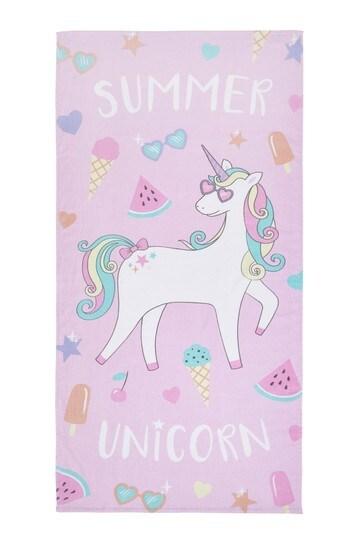Summer Unicorn Towel by Catherine Lansfield