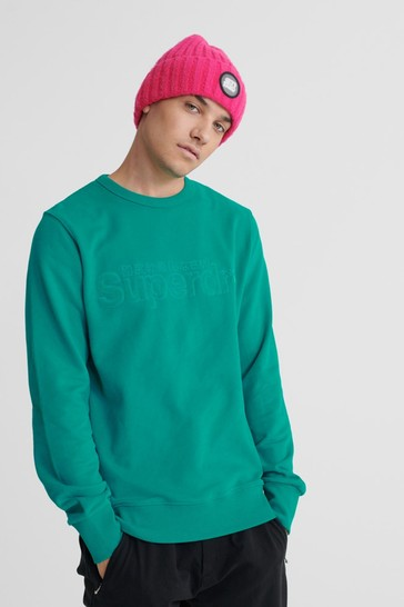 Superdry Core Logo Faux Suede Sweatshirt