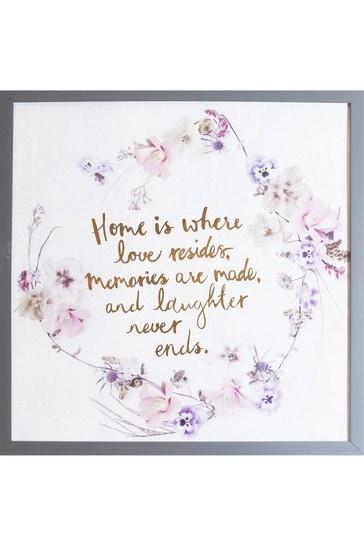 Love Resides Slogan Frame by Arthouse