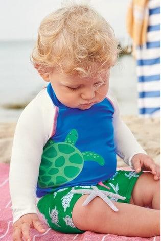 Boden Green Sunsafe Rash Vest Set